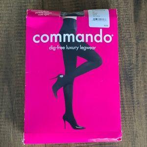 Commando opaque matte tights black sz L